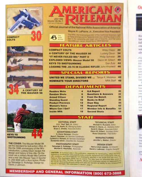 The American Rifleman Magazine 1998 - July