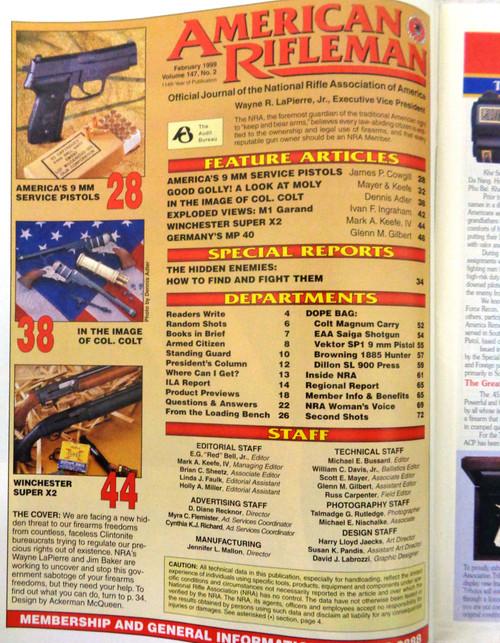 The American Rifleman Magazine 1999 - February