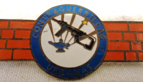 South American Fighting Against Urban Guerrillas Badge
