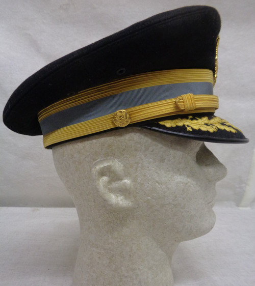 U.S. Army Dress Blue Visor Cap circa 1970's