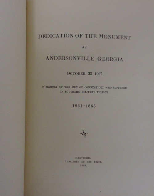 Dedication of the Monument at Andersonville Georgia