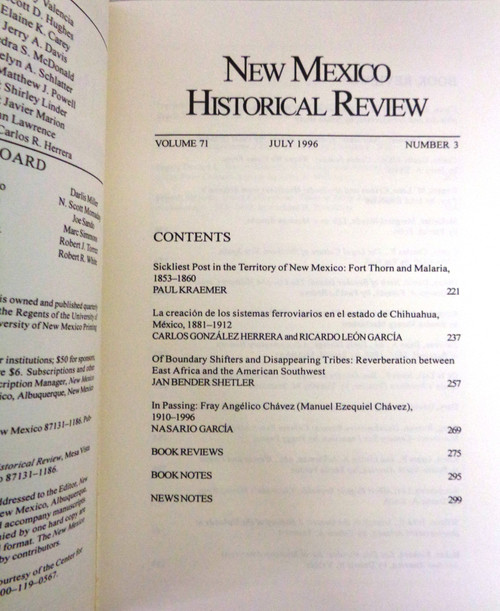 New Mexico Historical Review Vol. 71 No. 3 July 1996