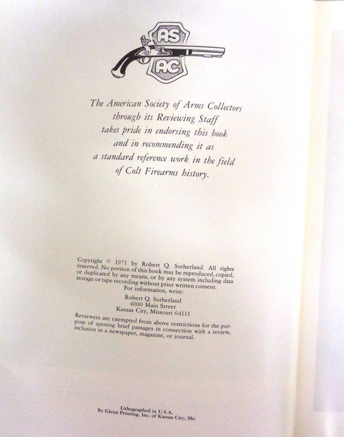 The Book of Colt Firearms by R.Q. Sutherland and R.L. Wilson