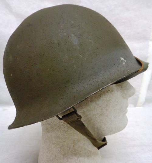 French Steel Combat Helmet with Liner and Chin Strap