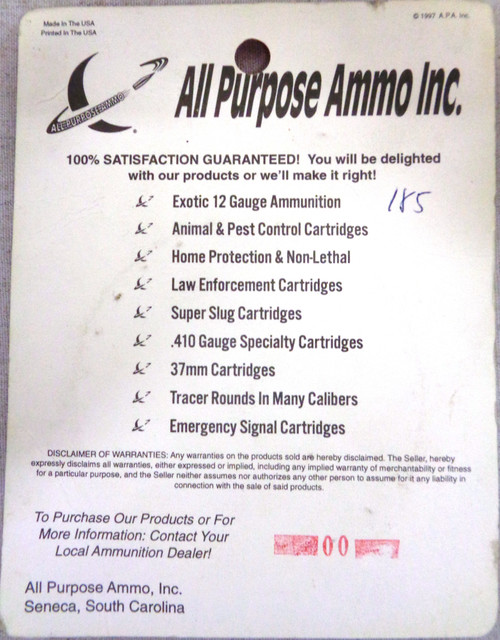All Purpose Ammo Inc. 22 Long Rifle Hi-Velocity Tracers