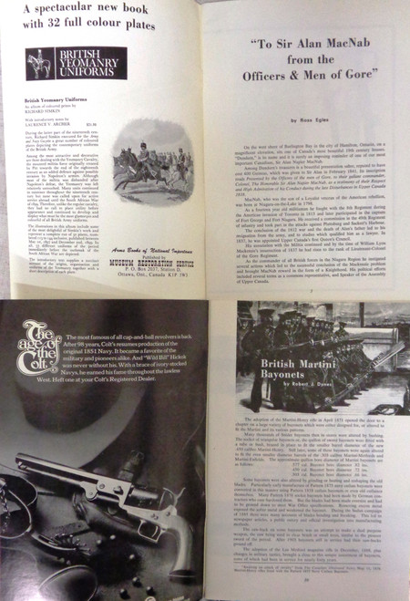 The Canadian Journal of Arms Collecting Vol. 10 No. 1-4 1972