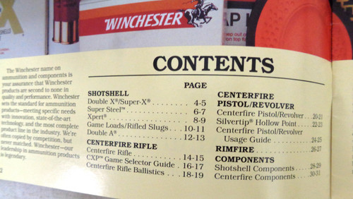 Winchester 1987 Ammunition Guide