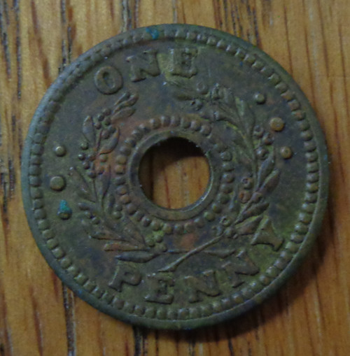 Australia / New Zealand WWII Internment Camps One Penny Coin
