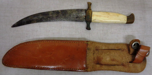 Jambiya with Bone Grip and Leather Scabbard