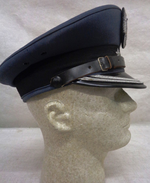 Polish Air Force Colonel's Visor cap w/Silver Bullion Eagle and Stars