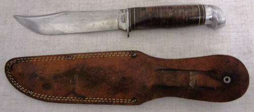 Western Clip Point Hunting Knife with Scabbard