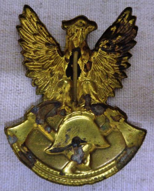 Polish Fire Rescue Cap Badge Communist Era 1944 to 1990