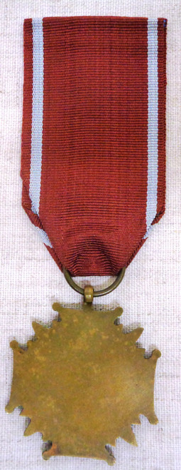Polish Cross of Merit 3rd Class Post WWII with Ribbon