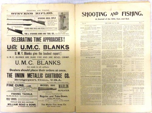 Shooting & Fishing Vol. XX No. 5 Periodical May 21, 1896