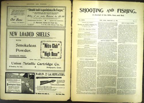 Shooting & Fishing Vol. XXVII No. 19 Periodical February 22, 1900
