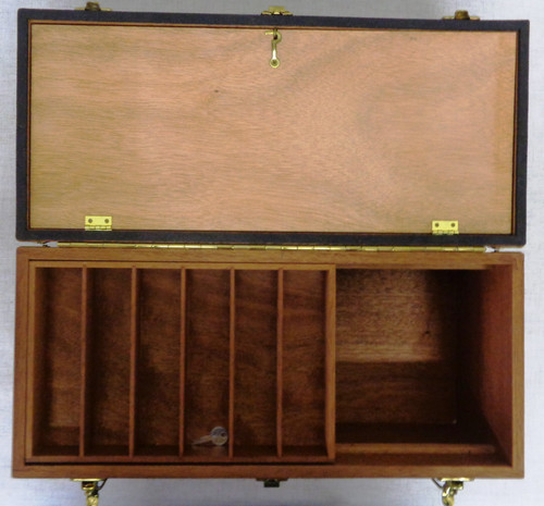 Deluxe Walnut Ammunition Storage case with Fitted Canvas Cover