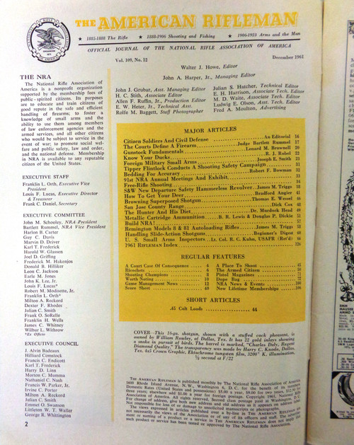 The American Rifleman Magazine 1961 - December