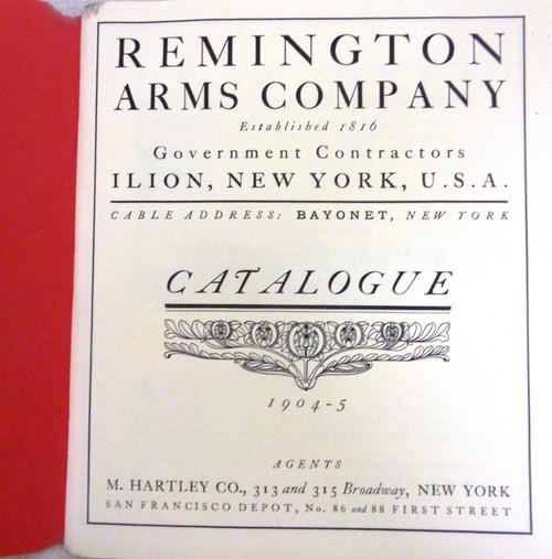 Remington Firearms Catalog 1904-5