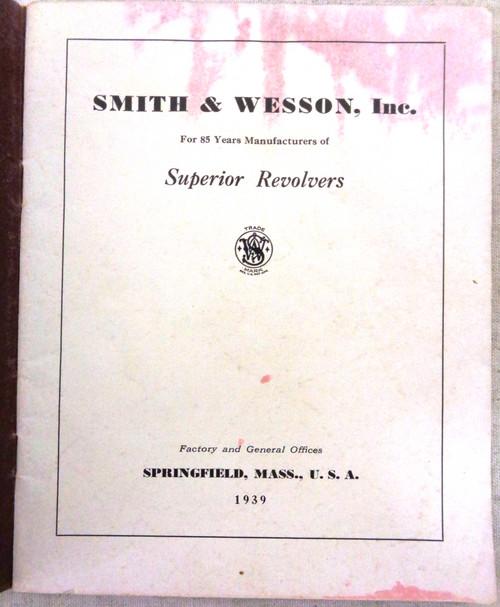 Smith & Wesson Catalog 1939