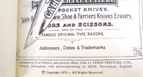 The Sheffield Bowie & Pocket-Knife Makers 1825-1925 by Richard Washer