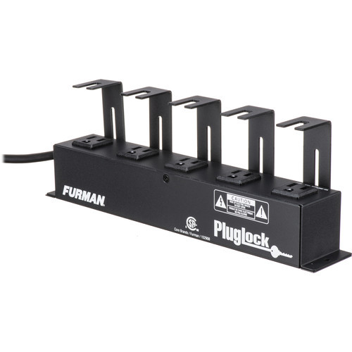 Furman Pluglock Circuit-Breaker Protected Locking Outlet Strip