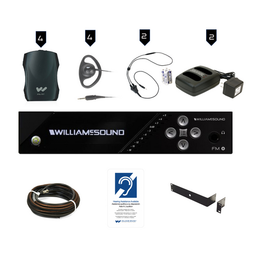Williams Sound FM Plus FM 557 PRO D FM/WiFi Listening Assist System with Dante Input