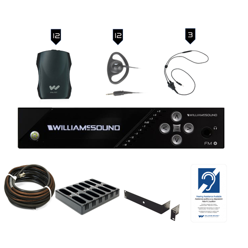 Williams Sound FM Plus FM 557-12 PRO D FM/WiFi Listening Assist System with Dante Input