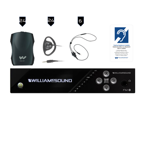 Williams Sound FM Plus FM 557-24 FM/WiFi Listening Assist System