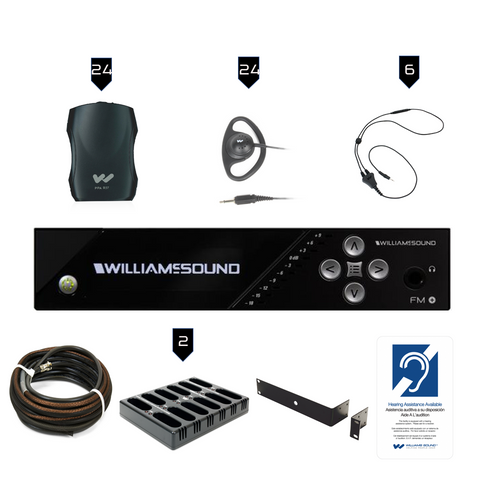 Williams Sound FM Plus FM 557-24 PRO D FM/WiFi Listening Assist System with Dante Input