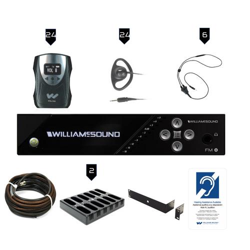 Williams Sound FM Plus FM 558-24 PRO D FM/WiFi Listening Assist System with Dante Input
