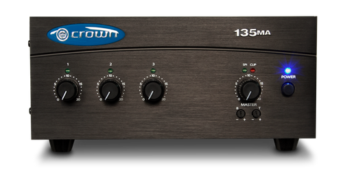 Crown 135MA  3-Input Mixer-Amplifier, front view