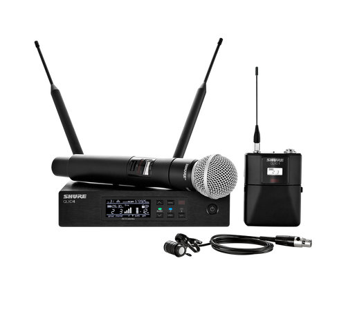 Shure QLXD124/85 Digital Wireless Handheld & Lavalier Combo System
