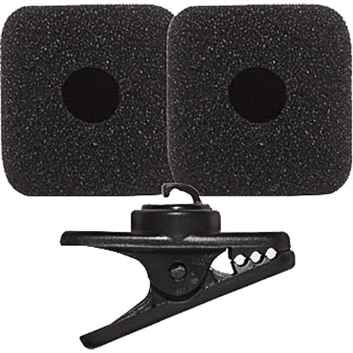 Shure RK377 Replacement Clip (1) & Windscreens (2), Black