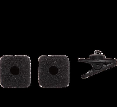 Shure RK379 Replacement Clip (1) & Windscreens (2), Black