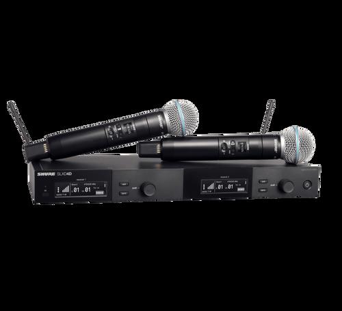 Shure SLXD4D/B58 dual-channel handheld wireless system