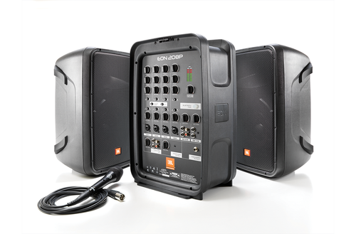 JBL EON 208P Packaged PA System, open view