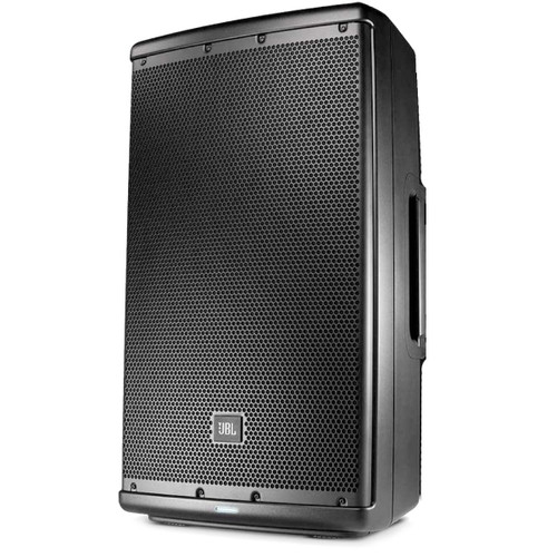 "JBL EON612  12"" 2-way self-powered speaker, front view"