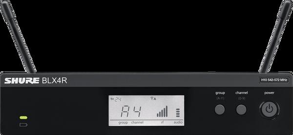 Shure BLX4R Wireless Receiver, front view