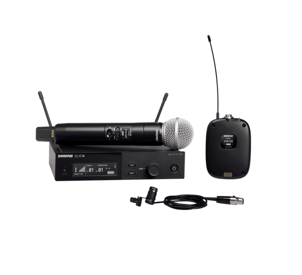 Shure SLXD124/85 Digital Wireless Handheld & Lavalier Combo System