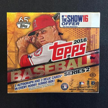 2016 Topps Series 2 Baseball Jumbo HTA Box