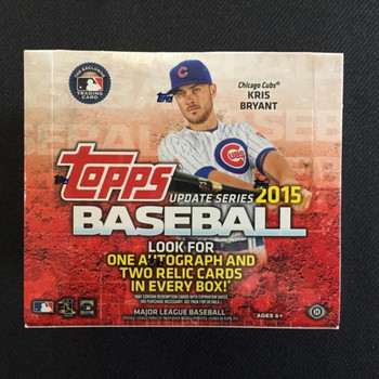2015 Topps Update Series Jumbo Baseball Box