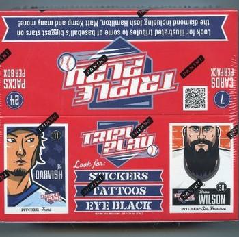 2012 Panini Triple Play Baseball 24 Count Box