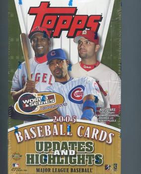 2005 Topps Updates & Highlights Baseball Hobby Box Jumbo HTA