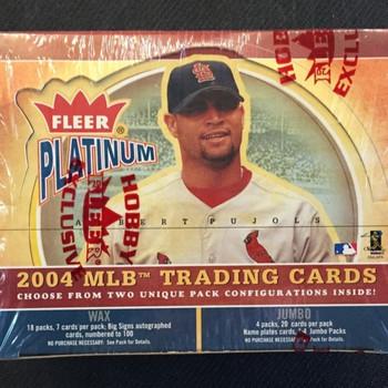 2004 Fleer Platinum Baseball Hobby Box