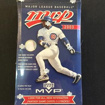 2003 Upper Deck MVP Baseball Hobby Box