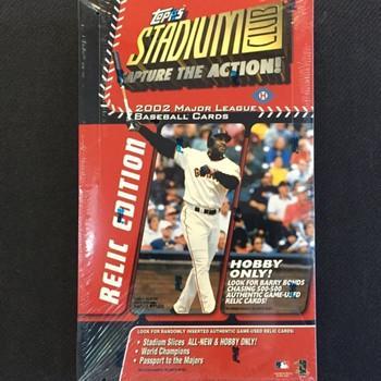 2002 Topps Stadium Club Relic Edition Baseball Hobby Box