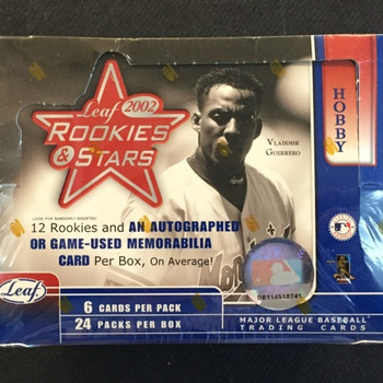 2002 Leaf Rookies & Stars Baseball Hobby Box
