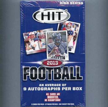 2013 Sage Hit High Series Football Hobby Box