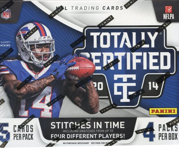 2014 Panini Totally Certified Football Box