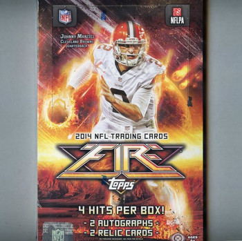 2014 Topps Fire Football Hobby Box